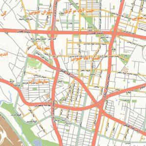 نقشه شهر تهران