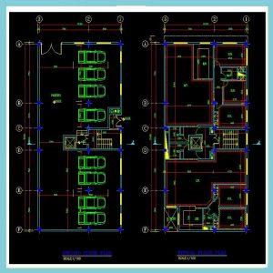 پلان معماری 24*12جنوبی - شرقی