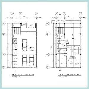 نقشه معماری 14*8 جنوبی