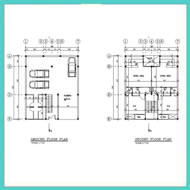 نقشه معماری 12*10 شمالی