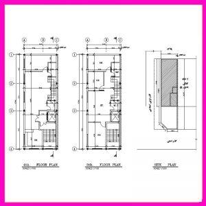 نقشه معماری 18*6 شمالی-غربی