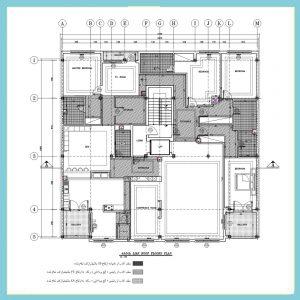 نقشه معماری 19*21 جنوبی فاز2
