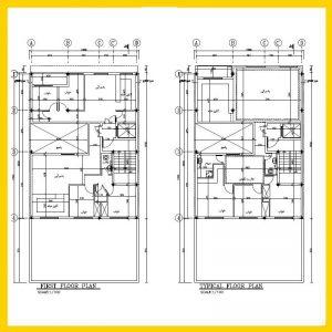 نقشه معماری 16*12جنوبی