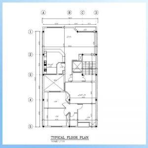 نقشه معماری 18*10 جنوبی