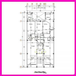 نقشه معماری 20*10 جنوبی