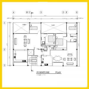 نقشه معماری 12*18 شمالی